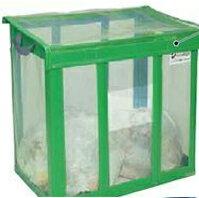 大きめのゴミ箱 屋外 テラモト DS-261-002-1 自立ゴミ枠 折りたたみ式 650L カラスよけ 網 屋外用ダストボックス 業務用ゴミ箱 分別 大型 外置き カラス除け 猫除けに