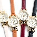 一粒ダイヤモンドの本革ベルト腕時計 丸型 レディース 日本製...
