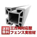 【ウッドデッキ】【送料無料】【人工木】【人工木材】【樹脂ウッドデッキ】【フェンス】sw10三方向対応型フェンス支柱材 黒 6本セット