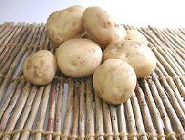 Organic farming or approximately 5 kg of natural agricultural methods potatoes