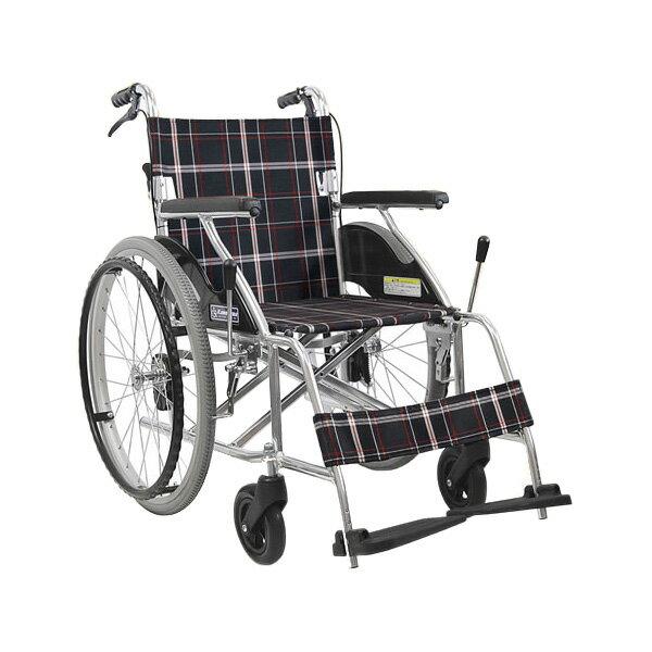 車椅子 軽量 折り畳み アルミ折りたたみじそうノーパンクタイヤ車椅子カルらくバリュー (車椅子 車いす 車イス 送料無料 自走用 折り畳み 折りたたみ)