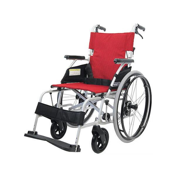 車椅子 軽量 折り畳み アルミ軽量折りたたみ自走式車いす カルラク3(ノーパンクタイヤ)( 送料無料 カワムラサイクル   折りたたみ 介護 介助用)