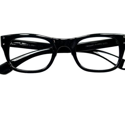 デッド1960sUSA製ボシュロムBAUCH&LOMBB&L2DOTウェリントン黒メガネ眼鏡ビンテージ9360