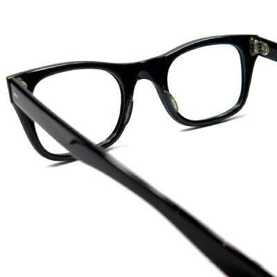 デッド1960sUSA製ボシュロムBAUCH&LOMB&L2DOTウェリントン黒メガネ眼鏡ビンテージ9360