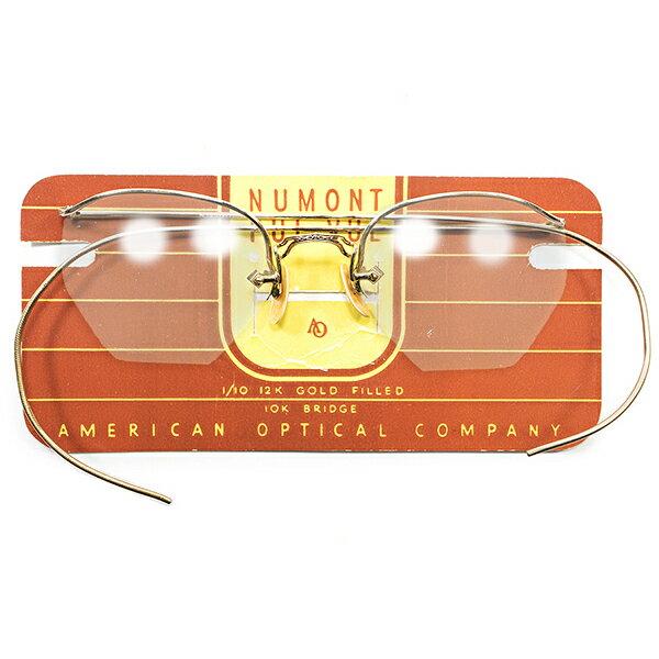 デッドストック 1930s USA製 MADE IN USA アメリカンオプティカル AO AMERICAN OPTICAL 本金張り リムレス ブロー ビンテージ メガネ 眼鏡 A0136