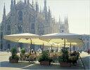 【イタリア・ガーデンパラソル】カプリ・レーニョ/イタリアFIM社製リゾートパラソル!! 高級感溢れる四角形のパラソルは様々なシーンで活躍します。期間限定特価キャンペーン対象商品。
