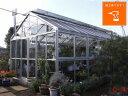 アルミ温室/2段サッシタイプ(C-4タイプ:間口3,600×奥行7,374×棟高3,119mm、8.0坪)3ミリガラス仕様