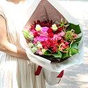 花束 Loulou ブーケタイプ ピンク 赤 ユリ ギフト 誕生日 バラ フラワー 花 別途送料 結婚祝い 結婚記念日 プレゼント ハロウィン お歳暮