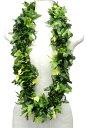 フラダンス衣装 レイ ハワイ 花飾り イベント フラ ハワイアンレイ クプクプファーンダブルレイ G-16 グリーン 緑