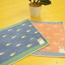 キャラクター ハンカチ フィッシュターチャン ハンドタオル フレンズヒル かわいい 猫 ブルー ピンク