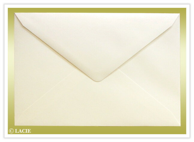 招待状セット用追加定形ダイヤ封筒クリーム(17.5cm×12cm)【招待状封筒】テンプレート無料配布【ゆうパケットで送料250円(71枚以上不可)】