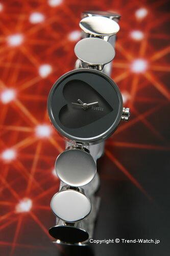 モルガン 【MORGAN】 腕時計 ミラー(ハートモチーフ) レディースウォッチ ブラック MG018-2【モルガン 時計】 【送料無料】