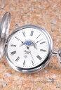 ラポート 懐中時計 RAPPORT (ポケットウォッチ) ムーンフェイズ ホワイト PW81【あす楽】