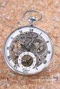 ラポート 懐中時計 RAPPORT (ポケットウォッチ) メカニカル シルバースケルトン PW89【ラポート 時計】