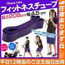 フィットネスチューブ(幅4.5cm)パープル紫   フィットネスチューブ ストレッチ チューブ エ