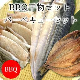 BBQ干物セット 海鮮 バーベキュー セット 3種9尾(イカの一夜干し・鯵・サバ) 築地直送【BBQ干物セット】