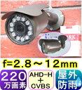 【SA-51091】 防犯カメラ・監視カメラAHD-H(1080P) 220万画素SONY製CMOS f=2.8〜12mm