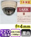 【SA-51096】220万画素 高感度屋内用ミニド−ム型防犯カメラ アナログ(CVBS)&AHD(1080p)信号切替出力 f=4mm