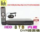 【SA-51179】8CH DVR録画機(8TB HDD内蔵) AHD TVI CVI CVBS対応DVR録画機