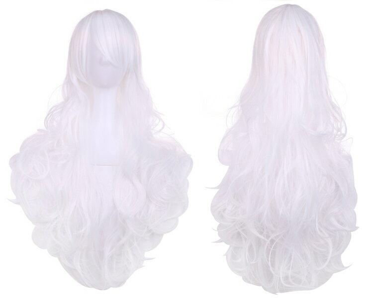 ウィッグ3点セット簡単手軽ハロウィン仮装ロングカールウェーブ巻き髪コスプレカラー送料無料フルウィッグ