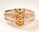 """""""蜂蜜色的光从手指..."""" - 粉红黄晶环sv243a希沃特;["""