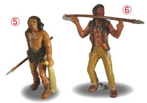 左:ネアンデルタール人右:ホモ・サピエンス