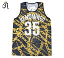 最大80%OFF ★ FURTHER REDUCTIONS SALE RENOWNED CLOTHING (リナウンド) BASKETBALL JERSEY (BLACK/GOLD) [ジャージ/メッシュ/タンクト..