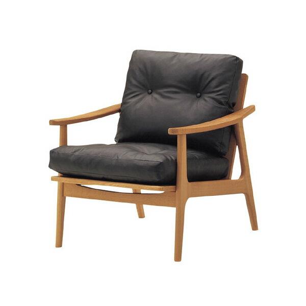 マルニ60 キノママ オークフレームチェア1シーター ブラックレザー 創業80年を超える老舗家具メーカーが作る天然木の家具カリモク60と並ぶ60VISION(ロクマルヴィジョン)参加ブランド「マルニ60」!