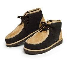ブーツメンズムートンブーツメンズブーツスエードショートチャッカブーツモカシンデザートブーツ防寒フェイクムートンふわふわ靴