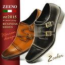 ショッピング紳士 ビジネスシューズ 靴 メンズ ビジネス メンズ スクエアトゥ ストレートチップ モンクストラップ ビジネスシューズ 革靴 脚長 イタリアンデザイン 紳士靴 靴 メンズ 通勤通学 Zeeno ze2015【★】/【あす楽対応】2020 秋冬新作