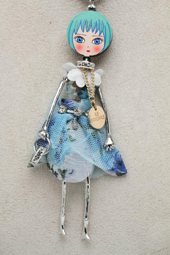 LE BRICIOLE(レ・ブリチオレ) My Favorite dolls Di Punto(ディプント) コレクションドール MP014 ターコイズ ネックレスタイプ エレガント