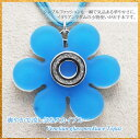 ベネチアンガラス ネックレス フラワー 1 FLOWER-1 トルコ 水色 スカイブルー 【RCP】