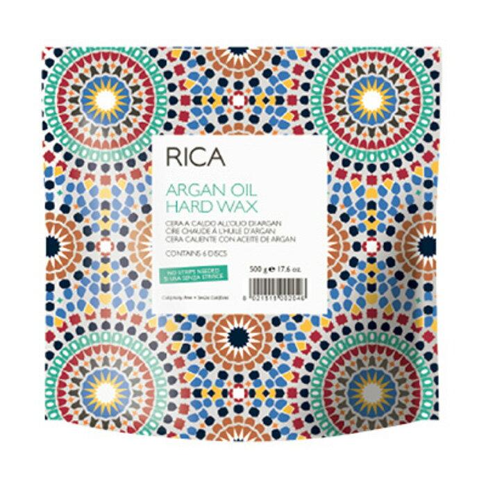 RICA アルガンオイル ハードワックス 500g チタニウム ブラジリアンワックス ハード ブラジリアン ワックス 顔 脱毛 アンダーヘア 処理 鼻毛ワックスVIO