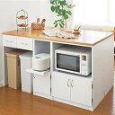 ユニットキッチンカウンターY G(天板90)  (hocola)( テーブル 間仕切り ワゴン キャビネット ストッカー 作業台 棚 ラック キッチン 収納 )※メーカーお届け品