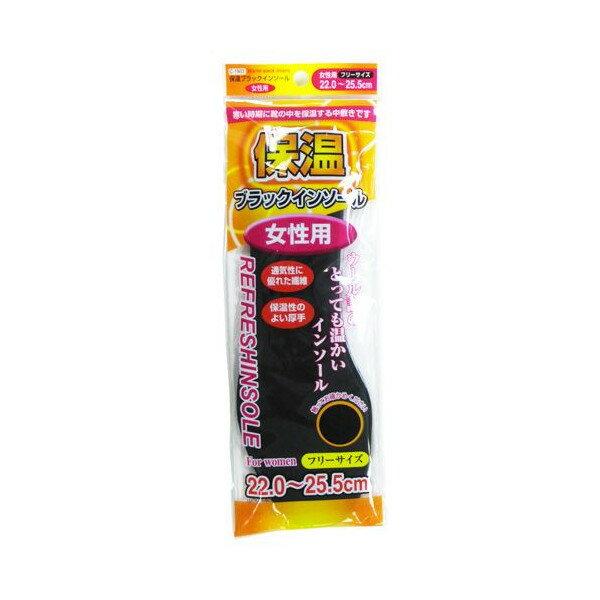 インソール 防寒 中敷き 保温ブラック フリーサイズ 女性用