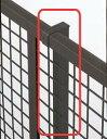 【フェンス 部材】プリレオR型フェンス フリー支柱(部品付き) 高さ600用本体同時購入で送料無料!柱1本からでも購入可能です!TOEX(LIXIL)の アルミ フェンス柱