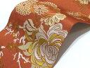 ご家庭で簡単に洗える!創世舎 明茶系 東レシルック素材 長尺半幅帯【送料無料&代引料無料】長尺細帯 女性用 和装 和服 小紋用 浴衣用 ゆかた用 カジュアル帯