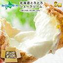 シュークリーム 北海道 とろとろシュー6個セット(ミルク) シューアイス 北海道 お取り寄せ スイーツ プレゼント 贈答品 プチギフト お菓子 洋菓子 おかし