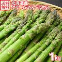 グリーンアスパラガス Lサイズ 1kg 北海道産直 北海道産 アスパラガス 送料無料 ◆出荷予定:5月中旬