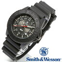 スミス&ウェッソン Smith & Wesson 正規品 スイス トリチウム ミリタリーウォッチ 腕時計 メンズ SWISS TRITIUM M&P WATCH BLACK/BLACK SWW-MP18-BLK ミリタリー&ポリス デイトカレンダー 日付 雑誌掲載ブランド 男性用 時計 送料無料