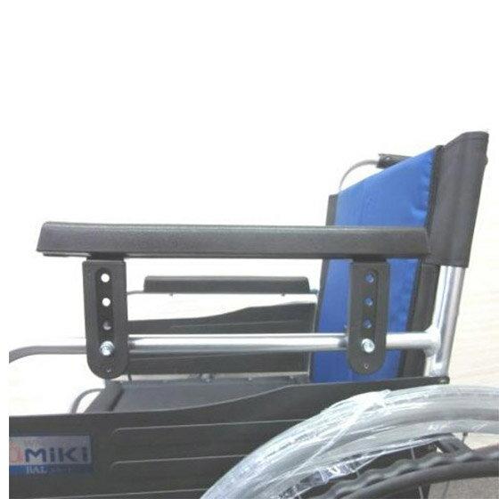 車椅子用オプションアームサポート高さ調整肘掛け高さアームレスト高さ4段階MIKIミキアームサポートハ
