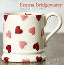 エマブリッジウォーター Emma Bridgewater マグカップ ピンク ハート 英国製 約300ml ハーフパイント 陶器 コップ おしゃれ クリスマス ...