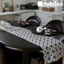 テーブルランナー 北欧 ブラックレイ Jubilee 英国デザイン 183×30 ハンドメイド 麻 リネン 撥水 新生活 新居 引越し祝い 新築 子供