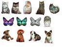 もふもふ クッション 3D リアル 高画質 プリントネコ 猫 蝶 フクロウ 梟 フワフワ 枕 抱き枕