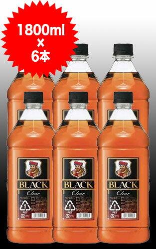 【送料無料 6本セット】ブラックニッカ クリア 1800ml×6本 ケース[6本入り]ブレンデッド ウイスキー ニッカウイスキー 正規品 1800ml 37%BLACK NIKKA CLEAR BLENDED WHISKY 1800ml 37%