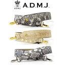 【ポイント10倍】ADMJ エーディーエムジェイ Snake leather × cow leather Shoulder Strap ショルダーストラップ ACS050064
