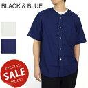 ブラックアンドブルー BLACK & BLUE ウォッシュドベースボールシャツ Washed Baseball Shirts 122S08【キャッシュレス還元対象】