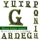 【天然モス】アルファベット オブジェ/文字/グリーン/ディスプレイ/お洒落/インテリア/選べる14種類/綺麗/