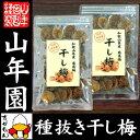 【国産100%】高級種抜き干し梅 種なし 100g×2袋セッ...