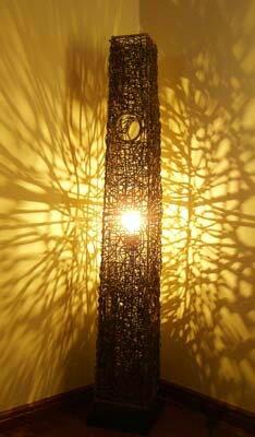 間接照明 スタンドライト (ラタンツイストタワーランプ) アジアン照明 バリ おしゃれ フロアスタンド エスニック リゾート